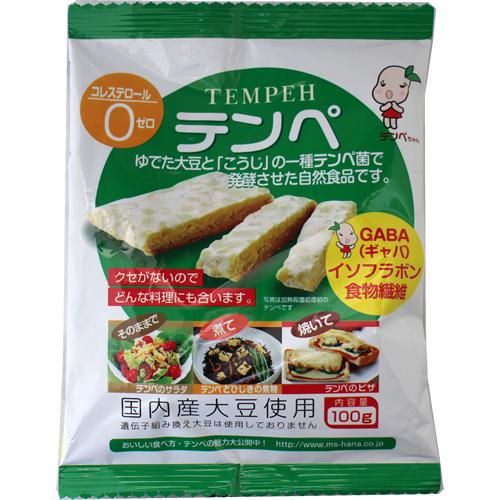 大豆を醗酵させた自然派健康食品 送料無料 保証 ネコポス 特価 マルシン 100g×4袋 大豆 テンペ TEMPEH