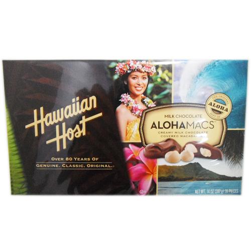 数量限定特売 ハワイアンホースト アロハマックス 397g(28粒) 1箱 1164円【 Hawaiian Host Aloha Macs チョコレート マカダミアナッツ costoco コストコ 通販 】