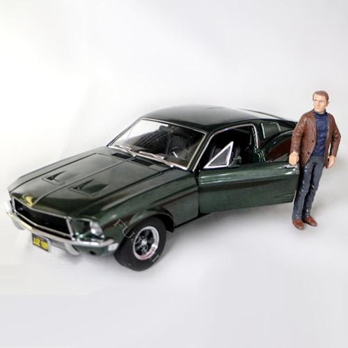 【半額】 1968 Ford Ford Mustang 1/18 GT BULLITT Steve Mcqueen Figure 1 ブリット/18 GREENLIGHT 12963円【フォード マスタング ブリット スティーブマックイーン 緑 GT ダイキャストカー グリーンライト】【コンビニ受取対応商品】, ワールドスポーツストアーズ渋谷店:c3080538 --- independentescortsdelhi.in