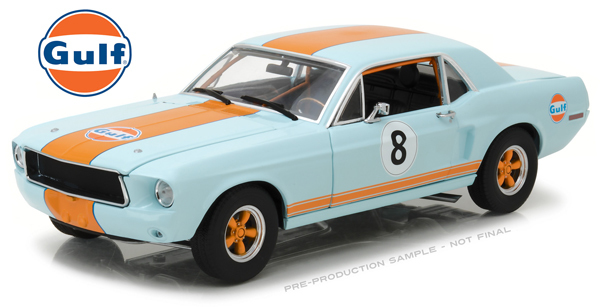 FORD 1967 MUSTANG COUPE GULF OIL RACER #8 1/18 Green light 12038円 【 ミニカー フォード マスタング クーペ グリーンライト クラシック ダイキャストカー ガルフ オイル レーサー 】【コンビニ受取対応商品】