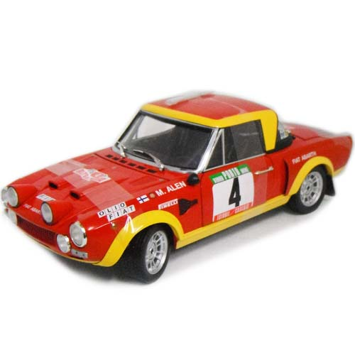 FIAT 124 Abarth #4 M.Alen Red 1/18 SunStar 13797円【フィアット アバルト クラシックラリー ポルトガル 1975勝者 サンスター ミニカー ダイキャストカー】【151130】【コンビニ受取対応商品】