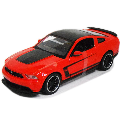 2 pack 1964 Ford Mustang Diecast 1:24 Welly 8 inch Black and Red