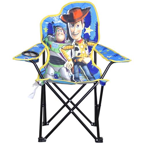 ディズニー トイストーリー ユースキッズチェア 折りたたみ式 カップホルダー付 1810円
