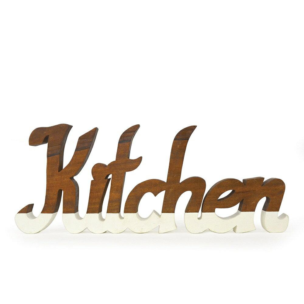 木製オブジェ ウッデンスクリプト/キッチン ラウンドB プレート 食器 キッチン 木皿 洋食器 ナチュラル 雑貨 おしゃれ かわいい 可愛い コップ