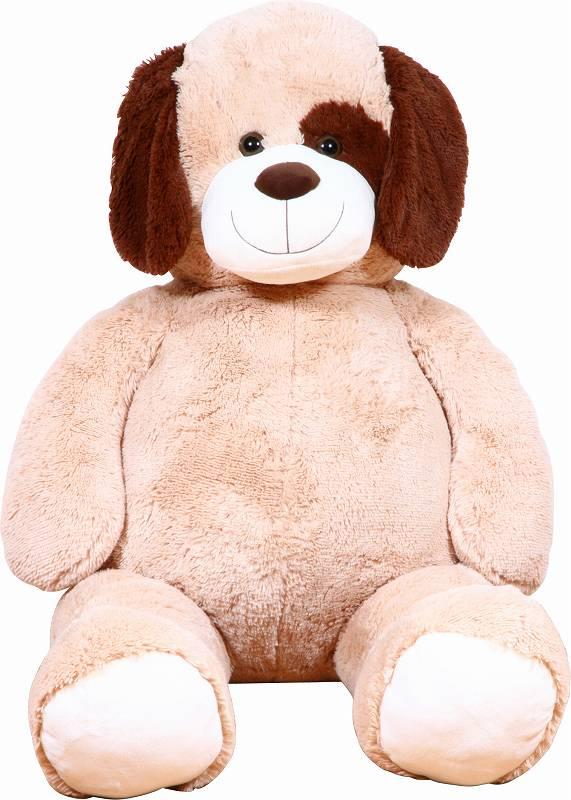 イヌぬいぐるみ ベージュ 135cm クリスマス プレゼント ギフト キッズ 贈り物 ぬいぐるみ おもちゃ くま いぬ ドッグ