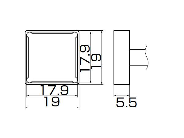 白光(HAKKO) はんだこてFM-2027/2028用こて先 クワッド 17.9×17.9 T12-1204