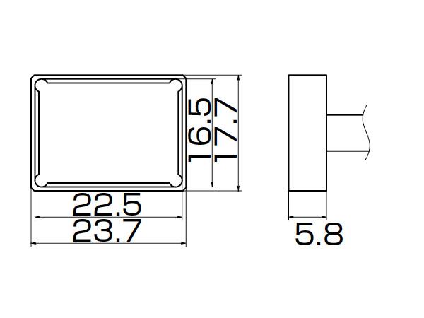 白光(HAKKO) はんだこてFM-2027/2028用こて先 クワッド 22.5×16.5 T12-1206