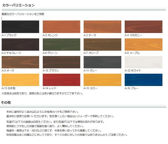 【送料無料】Washin(和信化学工業)ガードラックアクア14kgWPステイン(木材保護塗料)各16色