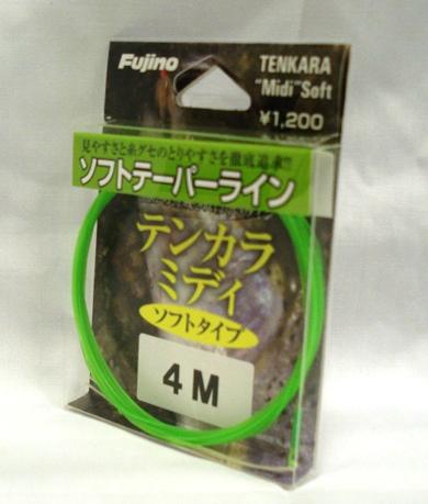驚くほど お金を節約 のやわらかさ 糸グセを感じないテンカララインに新色登場 釣り糸 店 Fujino テンカラミディソフトタイプ3.3m~4.5m フジノ