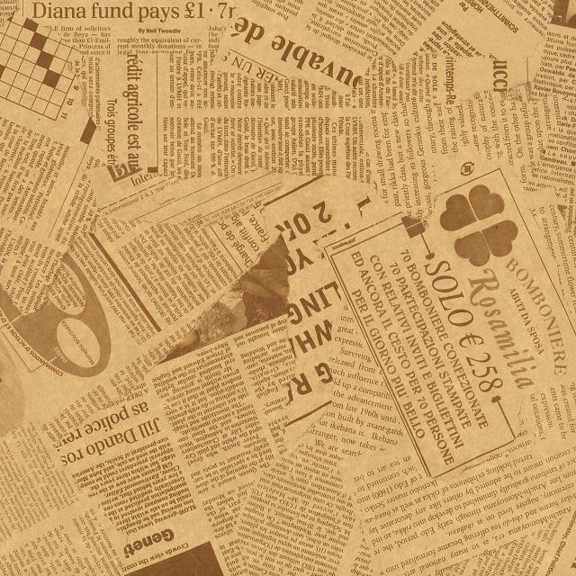 幅広いシチュエーションで使える英字新聞紙柄デザイン 英字 新聞紙柄 永遠の定番モデル 包装紙 セピア 100枚 フジパック ラッピングペーパー 包装 外国 英語 新聞 ラッピング 買収 加工 可愛い 光沢 デザイン おしゃれ 535×788mm ツヤ ギフト プレゼント 片面艶