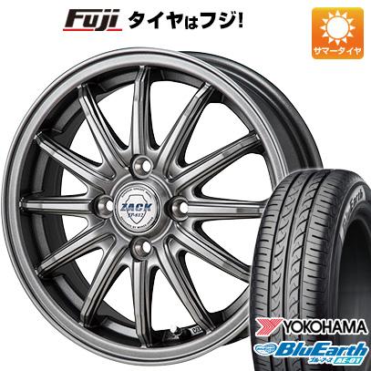 今がお得! 送料無料 185/55R15 15インチ サマータイヤ ホイール4本セット MONZA モンツァ ZACK JP-812 5.5J 5.50-15 YOKOHAMA ブルーアース AE-01