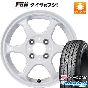 今がお得! 送料無料 165/55R14 14インチ サマータイヤ ホイール4本セット カジュアルセット タイプL 2. 4.5J 4.50-14 YOKOHAMA ブルーアース AE-01