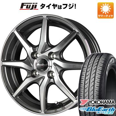 今がお得! 送料無料 155/65R14 14インチ サマータイヤ ホイール4本セット MID ユーロスピード S810 4.5J 4.50-14 YOKOHAMA ブルーアース AE-01