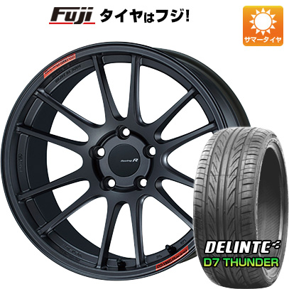 今がお得! 送料無料 235/40R18 18インチ サマータイヤ ホイール4本セット ENKEI エンケイ GTC01 RR 8J 8.00-18 DELINTE デリンテ D7 サンダー(限定)