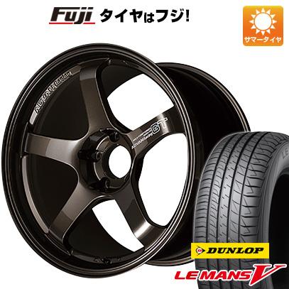 今がお得! 送料無料 225/40R18 18インチ サマータイヤ ホイール4本セット YOKOHAMA ヨコハマ アドバンレーシング GT プレミアムバージョン 8J 8.00-18 DUNLOP ルマン V(ファイブ)