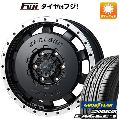 今がお得! 送料無料 ハイエース200系 195/80R15 15インチ サマータイヤ ホイール4本セット MONZA モンツァ HI-BLOCK バレックス 6J 6.00-15 GOODYEAR EAGLE 1 NASCAR LT(限定)