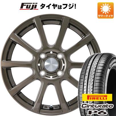 今がお得! 送料無料 175/65R15 15インチ サマータイヤ ホイール4本セット カジュアルセット タイプB17 ブロンズ 5.5J 5.50-15 PIRELLI チンチュラートP6