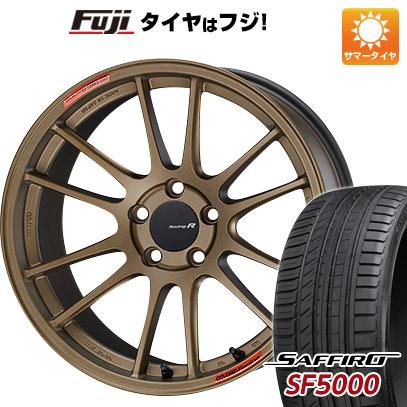 今がお得! 送料無料 235/50R18 18インチ サマータイヤ ホイール4本セット ENKEI エンケイ GTC01 RR チタニウムゴールド 8.5J 8.50-18 SAFFIRO サフィーロ SF5000(限定)