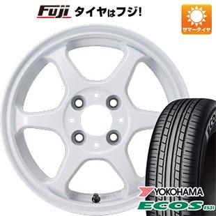 今がお得! 送料無料 165/60R14 14インチ サマータイヤ ホイール4本セット カジュアルセット タイプL 2. 5J 5.00-14 YOKOHAMA エコス ES31