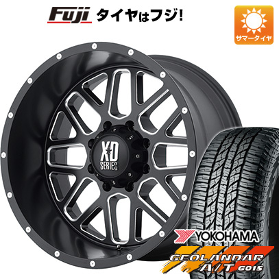 今がお得! 送料無料 265/50R20 20インチ サマータイヤ ホイール4本セット KMC XDシリーズ XD820 グレネード 9J 9.00-20 YOKOHAMA ジオランダー A/T G015 RBL