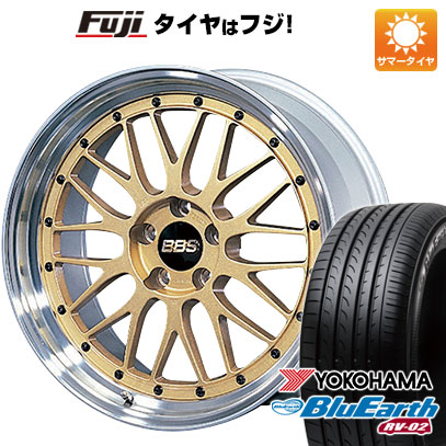 7/25はエントリーでポイント15倍 今がお得! 送料無料 225/55R18 18インチ サマータイヤ ホイール4本セット BBS JAPAN BBS LM 7.5J 7.50-18 YOKOHAMA ブルーアース RV-02