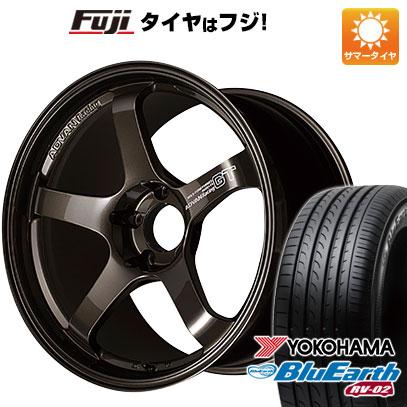 今がお得! 送料無料 225/45R18 18インチ サマータイヤ ホイール4本セット YOKOHAMA ヨコハマ アドバンレーシング GT プレミアムバージョン 8J 8.00-18 YOKOHAMA ブルーアース RV-02