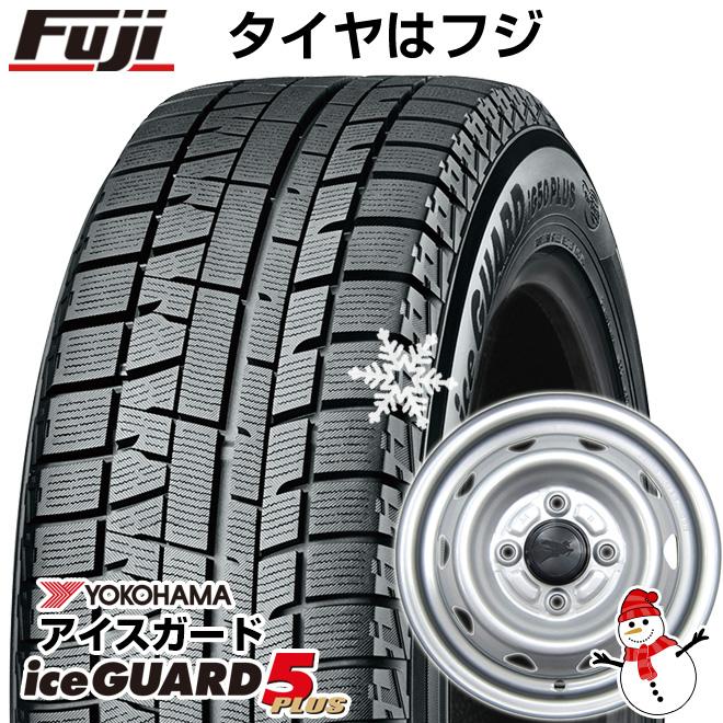 【送料無料】 YOKOHAMA ヨコハマ アイスガード ファイブIG50プラス 145/80R12 12インチ スタッドレスタイヤ ホイール4本セット ELBE エルベ オリジナル スチール 3.5J 3.50-12