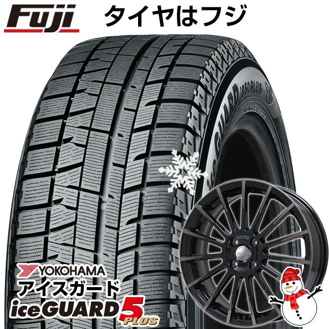 【送料無料】 YOKOHAMA ヨコハマ アイスガード ファイブIG50プラス 165/55R15 15インチ スタッドレスタイヤ ホイール4本セット BIGWAY LEYSEEN F-XV 4.5J 4.50-15