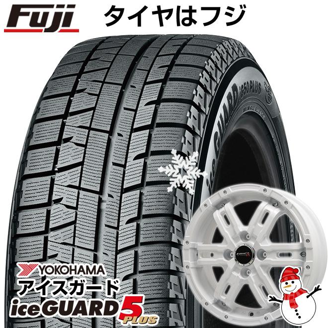 【送料無料】 YOKOHAMA ヨコハマ アイスガード ファイブIG50プラス 165/60R15 15インチ スタッドレスタイヤ ホイール4本セット BIGWAY B-MUD Z(ホワイト) 4.5J 4.50-15
