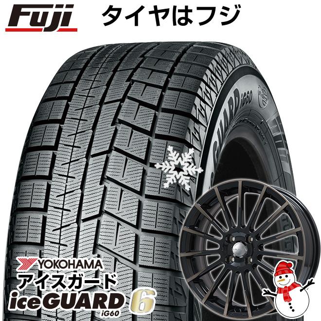 【送料無料】 YOKOHAMA ヨコハマ アイスガード シックスIG60 165/60R15 15インチ スタッドレスタイヤ ホイール4本セット BIGWAY LEYSEEN F-XV 4.5J 4.50-15