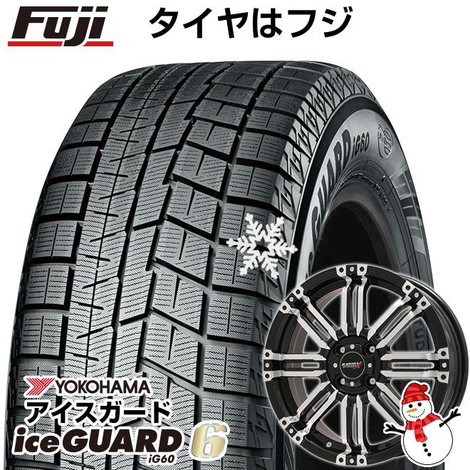 【送料無料】 YOKOHAMA ヨコハマ アイスガード シックスIG60 165/55R15 15インチ スタッドレスタイヤ ホイール4本セット BIGWAY B-MUD X(ブラックポリッシュ) 4.5J 4.50-15