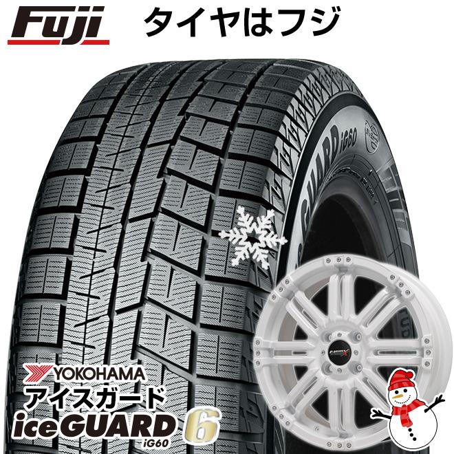 【送料無料】 YOKOHAMA ヨコハマ アイスガード シックスIG60 155/65R14 14インチ スタッドレスタイヤ ホイール4本セット BIGWAY B-MUD X(ホワイト) 4.5J 4.50-14