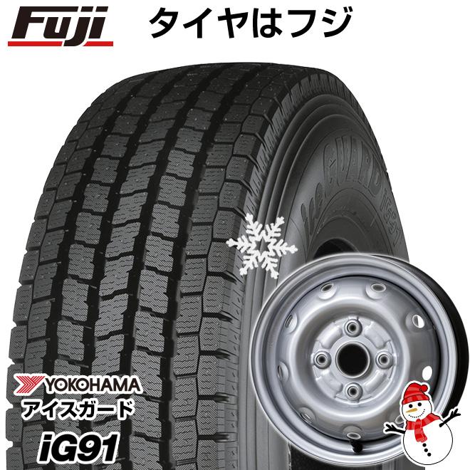 【送料無料】 YOKOHAMA ヨコハマ アイスガード iG91 80/78N 145/80R12 12インチ スタッドレスタイヤ ホイール4本セット ELBE エルベ オリジナル スチール E46 3.5J 3.50-12