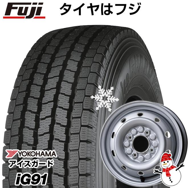 【送料無料】 YOKOHAMA ヨコハマ アイスガード iG91 80/78N 145/80R12 12インチ スタッドレスタイヤ ホイール4本セット ELBE エルベ オリジナル スチール M74 3.5J 3.50-12