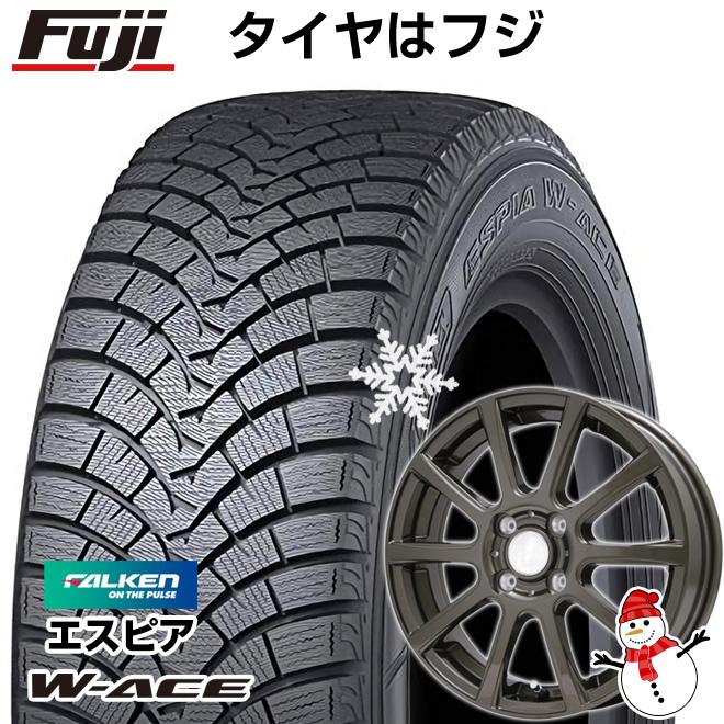 【送料無料】 FALKEN ファルケン エスピア W-ACE 165/70R14 14インチ スタッドレスタイヤ ホイール4本セット BRANDLE ブランドル 565Z 5.5J 5.50-14