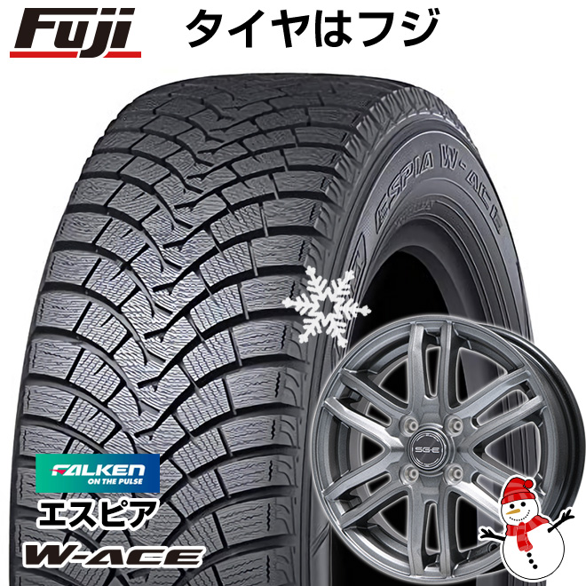 【送料無料】 FALKEN ファルケン エスピア W-ACE 185/70R14 14インチ スタッドレスタイヤ ホイール4本セット BRANDLE ブランドル G61 5.5J 5.50-14