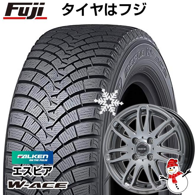 【送料無料】 FALKEN ファルケン エスピア W-ACE 185/70R14 14インチ スタッドレスタイヤ ホイール4本セット BRANDLE ブランドル G72 5.5J 5.50-14