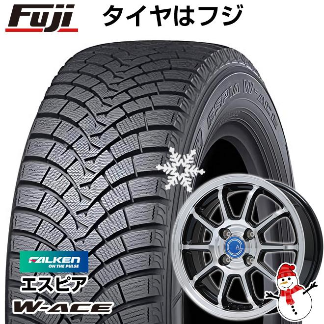 【送料無料】 FALKEN ファルケン エスピア W-ACE 185/70R14 14インチ スタッドレスタイヤ ホイール4本セット BRANDLE ブランドル M60B 5.5J 5.50-14