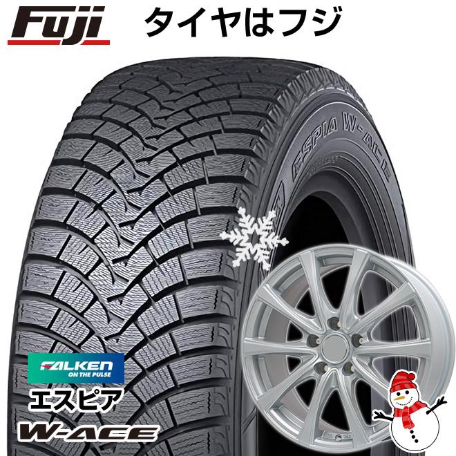 【送料無料】 FALKEN ファルケン エスピア W-ACE 165/55R15 15インチ スタッドレスタイヤ ホイール4本セット BRANDLE ブランドル KF25 4.5J 4.50-15