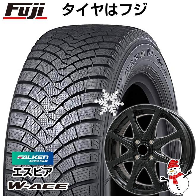 【送料無料】 FALKEN ファルケン エスピア W-ACE 165/55R15 15インチ スタッドレスタイヤ ホイール4本セット BRANDLE ブランドル KF25B 4.5J 4.50-15
