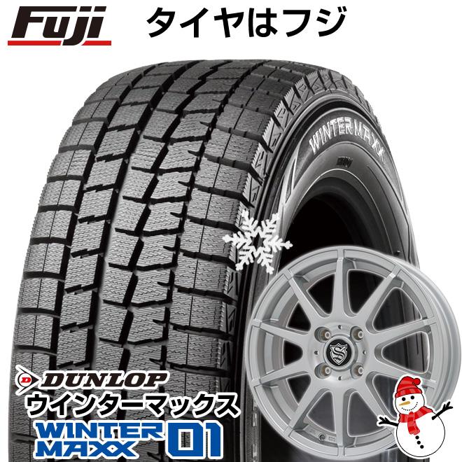 【送料無料】 DUNLOP ダンロップ ウインターマックス 01 WM01 155/65R14 14インチ スタッドレスタイヤ ホイール4本セット BRANDLE ブランドル 562SS 4.5J 4.50-14