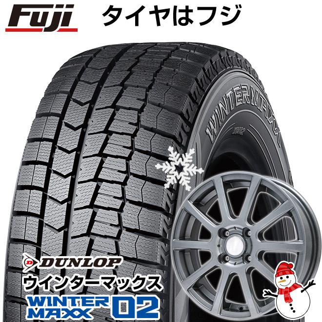 【送料無料】 DUNLOP ダンロップ ウィンターマックス 02 WM02 145/80R12 12インチ スタッドレスタイヤ ホイール4本セット BRANDLE ブランドル 565T 3.5J 3.50-12