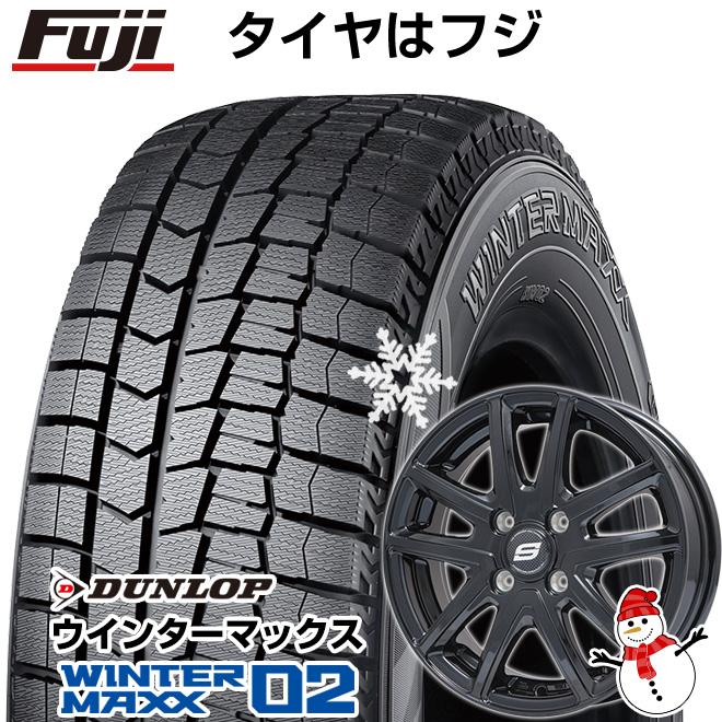 【送料無料】 DUNLOP ダンロップ ウィンターMAXX 02 165/55R15 15インチ スタッドレスタイヤ ホイール4本セット BRANDLE ブランドル M61B 4.5J 4.50-15