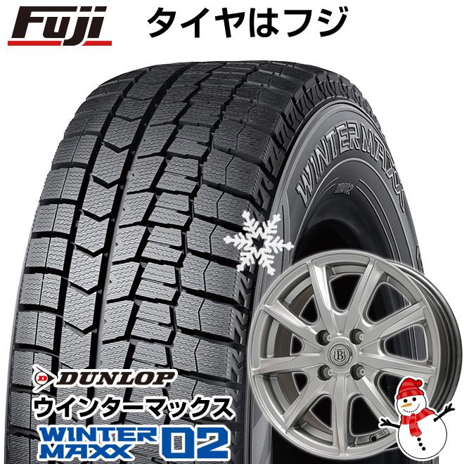 【送料無料】 DUNLOP ダンロップ ウィンターMAXX 02 165/60R15 15インチ スタッドレスタイヤ ホイール4本セット BRANDLE ブランドル E05 4.5J 4.50-15