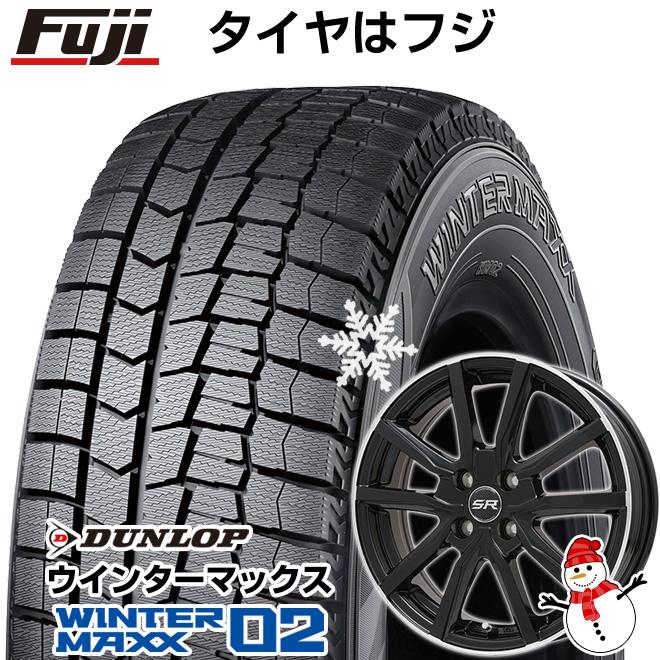 【送料無料】 DUNLOP ダンロップ ウインターマックス 02 WM02 165/60R15 15インチ スタッドレスタイヤ ホイール4本セット BRANDLE ブランドル N52B 4.5J 4.50-15
