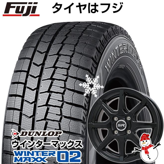 【送料無料】 DUNLOP ダンロップ ウィンターマックス 02 WM02 145/80R12 12インチ スタッドレスタイヤ ホイール4本セット BRANDLE ブランドル S8B 3.5J 3.50-12