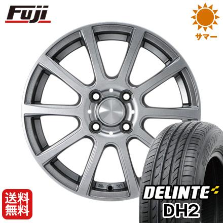 【取付対象】 送料無料 185/60R15 15インチ サマータイヤ ホイール4本セット カジュアルセット タイプB17 メタリックグレー 5.5J 5.50-15 DELINTE デリンテ DH2(限定)