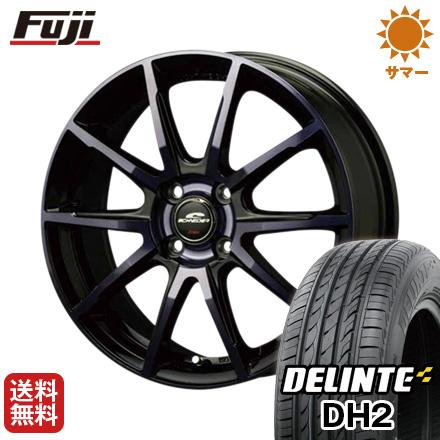 今がお得! 送料無料 155/65R14 14インチ サマータイヤ ホイール4本セット MID シュナイダー DR-01 4.5J 4.50-14 DELINTE デリンテ DH2(限定)