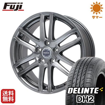 今がお得! 送料無料 225/55R18 18インチ サマータイヤ ホイール4本セット BRANDLE ブランドル G61 7.5J 7.50-18 DELINTE デリンテ DH2(限定)
