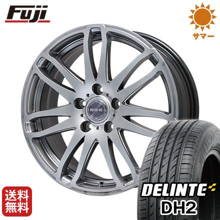 今がお得! 送料無料 225/55R18 18インチ サマータイヤ ホイール4本セット BRANDLE ブランドル G72 7.5J 7.50-18 DELINTE デリンテ DH2(限定)
